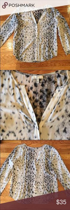 Joie Blouse - black and white leopard! Black and white leopard print! Size small; lightly worn!! Joie Tops Blouses