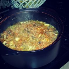 Asian noodle soup in the Rockcrok dutch oven