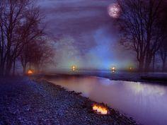 Misty Night premade BG by StarsColdNight.deviantart.com on @deviantART