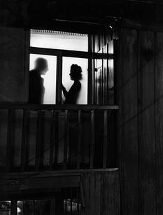 Shadows in Window, 1949 (Siegfried Lauterwasser) Could bring the couple closer and kissing