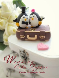 Luggage with Penguins Wedding Cake Topper-love penguins with luggage base by charles fukuyama, via Flickr