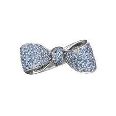 Mimi So Small Pavé Sapphire Bow Ring