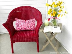 facelift for wicker chairs