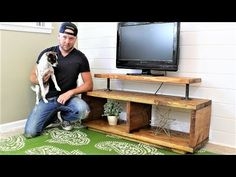 The Super Easy TV Stand – DIY Project - gift. Wooden Crates Tv Stand, Crate Tv Stand, Pallet Tv Stands, Tv Stand Made Out Of Pallets, Build A Tv Stand, Tv Stand Plans, Tv Stand Decor, Diy Tv Stand, Bude