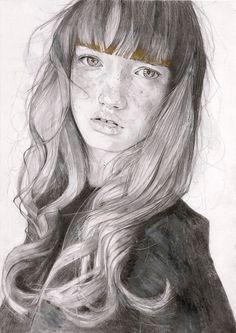 Saatchi Online Artist: Adrien Patout; Pencil, 2013, Drawing Amberley