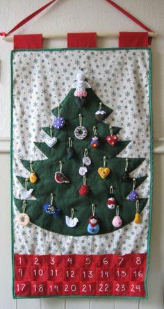 snowflake felt advent calendar