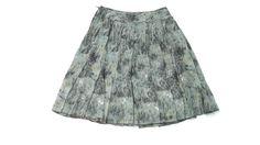 ANNE KLEIN womens Designer Black Camel Gray 100% Silk Skirt w/ Sequins Size 6 #AnneKlein #FullSkirt