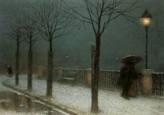winter night by Jakub Schikaneder 1855 – 1924 was a Czech painter.