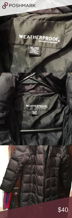 Weatherproof garment company Black downs below knee extremely warm fur hood waterproof garment Jackets & Coats Puffers