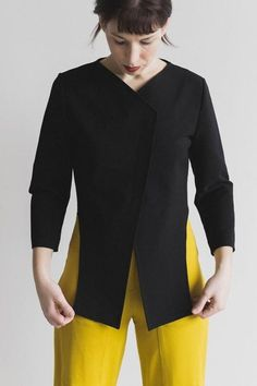 Xenia Design Cropped Back Jacket
