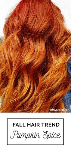 Pumpkin Spice Hair Color! The ultimate 2016 Fall Hair Color Trend. Glints of golden copper and a beautiful red base. Hair by: Erica Stevens with Oway Ammonia-Free Hcolor   Featured in Simply Organic Beauty's Ultimate 2016 Fall + Winter Hair Color Trends Guide © #FallHairColor #PumpkinSpiceHair #Oway #SimplyOrganicBeauty