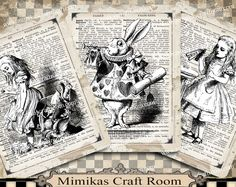 Alice Printable Paper Alice in Wonderland digital cards 4x5 inches Instant download alice party images background paper decorations by mimikascraftroom on Etsy https://www.etsy.com/listing/457038662/alice-printable-paper-alice-in