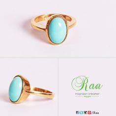 Blue Turquoise Gold Ring!  #BlueTurquoise #Gold #Ring #Customized #Handcrafted #Craftmanship #Raa #Chennai #lounge #jewelrylounge #jewelry