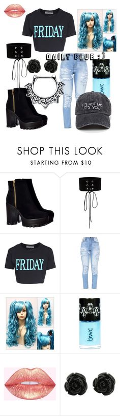 """""""Heart"""" by queenofthydead ❤ liked on Polyvore featuring Manokhi, Alberta Ferretti and lightblue"""
