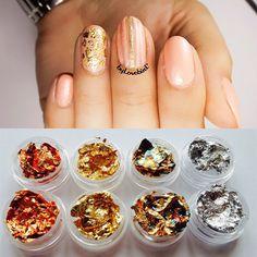 $4.91 12 Boxes/set Multicolor Nail Art Foil Glitter Gold & Silver Nail Art Glitter Decoration - BornPrettyStore.com