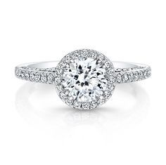 Setting Price Floating Halo Diamond Engagement Ring in 14k White Gold .42 CT Price Shown As Metal: 18k White Gold Available Metals: Platinum, Rose Gold, White Gold, Yellow Gold Diamond Information MIN