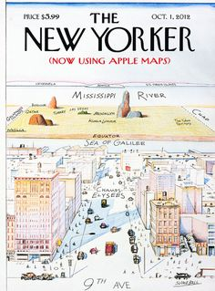 The coolest cover ever: THE NEW YORKER (now using Apple Maps).