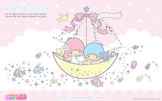 Little Twin Stars Wallpaper 2012 七月桌布 日本 SanrioBB Present – Stargazer Sanrio Wallpaper, Star Wallpaper, Kawaii Wallpaper, Iphone Wallpaper, Little Twin Stars, Little Star, Sanrio Characters, Cute Unicorn, My Melody