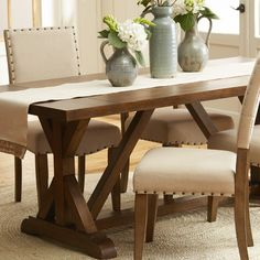 $1363 Weston Reclaimed Hardwood Dining Table 90\