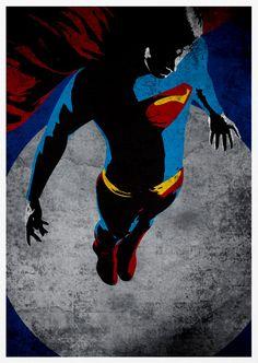 Superman Retro Pop Art A3 Poster Print