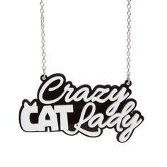 Crazy Cat Lady necklace laser cut acrylic by sugarandvicedesigns