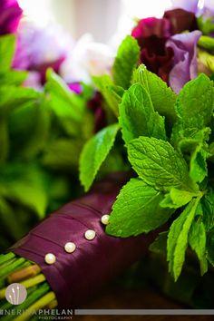 Mint leaf bouquet Wedding Flowers, Bouquet, Mint, Herbs, Leaves, Bouquet Of Flowers, Bouquets, Herb, Floral Arrangements