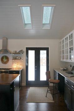Desk in kitchen.  <3 it! via- housetweaking.com