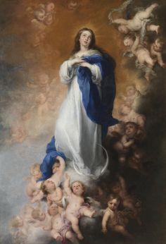 """""""A Imaculada Conceição dos Veneráveis"""", pintura de ~1678 de Bartolomé Esteban Murillo"""