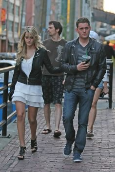 Michael Buble and Luisana Lopilato - Michael Buble in Downtown Vancouver