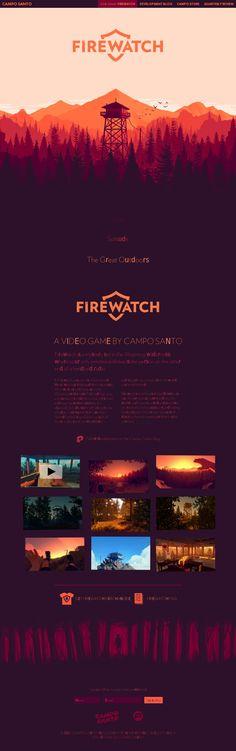 The website 'http://www.firewatchgame.com/' courtesy of @Pinstamatic (http://pinstamatic.com)