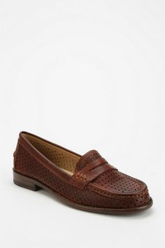 Dalia Cutout Penny Loafer / Frye / Urban Outfitters / $198.00 / been looking for perforated loafers ever since my trusty perfect thrifted ones basically dissolved....why frye though why EXPENSIVE why