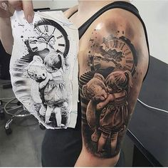 Tattoos for women Mama Tattoos, Father Tattoos, Family Tattoos, Body Art Tattoos, Sleeve Tattoos, Father Son Tattoo, Mom Dad Tattoos, Tatoos, Baby Tattoo For Dads