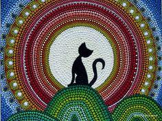 Gato le gusta saludar a imán A amanecer en la por AnnaSmirnova74