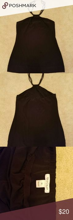 White House Black Market halter top Very cute WHBM halter top with  (non padded) shelf bra, prefect condition, worn just a few times White House Black Market Tops Blouses