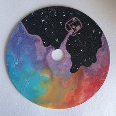 Colourful Dream Me acrylic on CD 2020 Record Wall Art, Cd Wall Art, Cd Art, Cute Canvas Paintings, Small Canvas Art, Mini Canvas Art, Easy Canvas Art, Cool Art Drawings, Vinyl Art