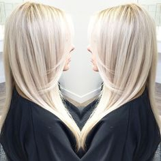 icy blonde with shadowy lowlights