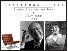 Top Ten Iconic Chairs of Our Time | UDo Interiors - Barcelona Chair, by Ludwig Mies van der Rohe & Lilly Reich 1929 Furniture Styles, Furniture Design, Ludwig Mies Van Der Rohe, Personal Relationship, Eclectic Design, Barcelona Chair, Cool Chairs, Top Ten, Icon Design