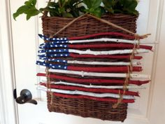 American Flag Art from sticks #repurpose #upcycle