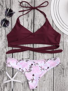 f16911df71 SheIn offers Contrast Geo Print Halter Neck Mixed And Match Bikini Set &  more to fit your fashionable needs.