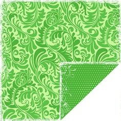 Scrapbook Customs - Travel Collection - 12 x 12 Double Sided Paper - Bon Voyage - Green Ferns at Scrapbook.com $0.99