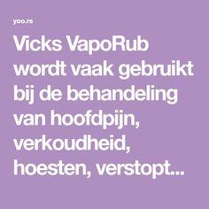 vicks vaporub verstopte neus