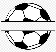 soccer svg ball split monogram clipart football silhouette cut middle personal use template balls thank season half cameo card players