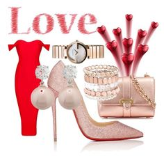 """Sweet Love"" by trisacluhasu on Polyvore featuring Christian Louboutin, Aspinal of London, Gucci, Jankuo and Avenue"
