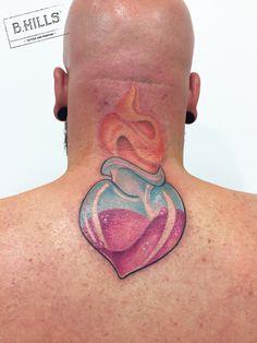Sacred Heart Tattoo  #sacredheartattoo #sacrumcor #cuoresacro #newschooltattoo