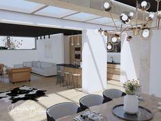 Čierny strop v hlavnej úlohe - Kristína Bedečová Living Room Kitchen, Kitchen Living