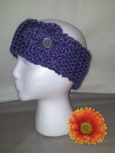 colors: purple with purple flower style: with a flower size: adult
