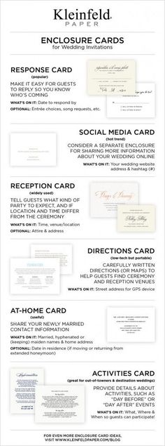 Wedding response cards, wedding social media, wedding invitations enclosures, wedding directions, wedding reception cards