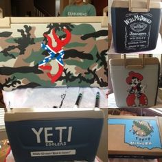 How to paint your own custom cooler! Fun gift for guys or way to commemorate a trip with the ladies!