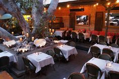 Cliff's Edge  Smack dab in the middle of Sunset Junction is our favorite courtyard in all of L.A. The giant fairy-lighted tree is the ideal centerpiece for romantic nighttime magic.  Cliffs Edge, 3626 West Sunset Boulevard (At Santa Monica Boulevard); 323-666-6116.