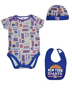 Compare prices on New York Giants Onesie from top sports fan gear  retailers. Baby NFL Gear 552e9fe53